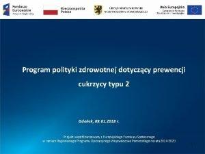 Program polityki zdrowotnej dotyczcy prewencji cukrzycy typu 2