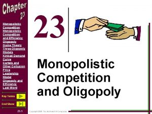 Monopolistic Competition and Efficiency Oligopoly Game Theory Three