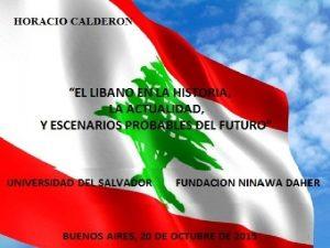 1 CRONOLOGIA DE LA HISTORIA DEL LIBANO Crdito