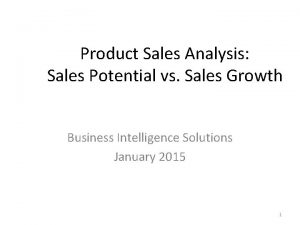 Product Sales Analysis Sales Potential vs Sales Growth