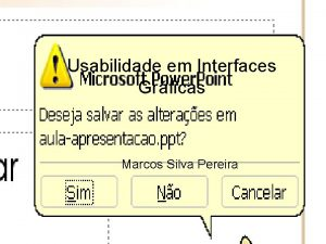 Usabilidade em Interfaces Grficas Marcos Silva Pereira Ementa