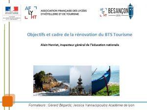 Objectifs et cadre de la rnovation du BTS