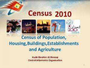 Census 2010 Census of Population Housing Buildings Establishments