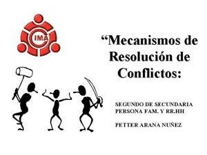 Mecanismos de Resolucin de Conflictos SEGUNDO DE SECUNDARIA
