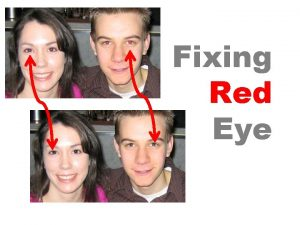 Fixing Red Eye The Red Eye tool Located