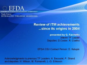 Review of ITM achievements since its origins in