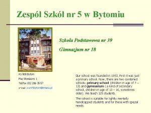 Zesp Szk nr 5 w Bytomiu Szkoa Podstawowa
