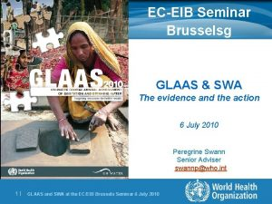 ECEIB Seminar Brusselsg GLAAS SWA The evidence and