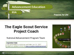 Advancement Education BSA The Eagle Scout Service Project