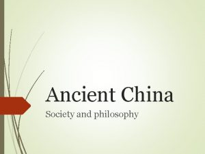 Ancient China Society and philosophy Chinese Philosophy Between