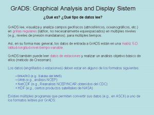 Gr ADS Graphical Analysis and Display Sistem Qu