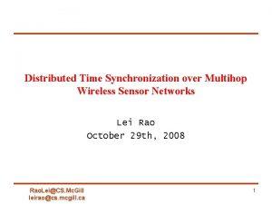 Distributed Time Synchronization over Multihop Wireless Sensor Networks