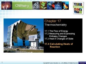 17 4 Calculating Heats of Reaction Chapter 17