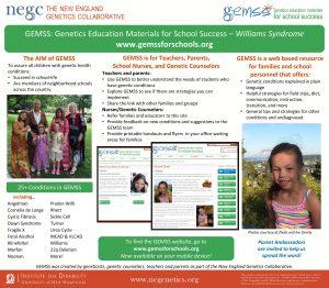 GEMSS Genetics Education Materials for School Success Williams