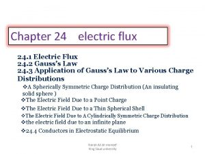 Chapter 24 electric flux 24 1 Electric Flux