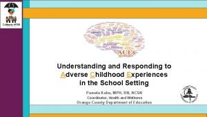 Understanding and Responding to Adverse Childhood Experiences in