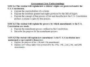 The Rights of Citizens Bill of Rights 10