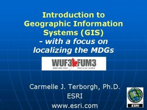 Introduction to Geographic Information Systems GIS with a