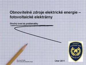 Obnoviteln zdroje elektrick energie fotovoltaick elektrrny Strun vod