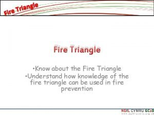 Fire Triangle Know about the Fire Triangle Understand