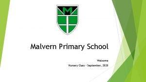 Malvern Primary School Welcome Nursery Class September 2020