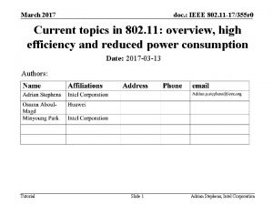 March 2017 doc IEEE 802 11 17355 r