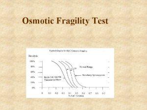 Osmotic Fragility Test Osmotic fragility Definition Osmotic fragility