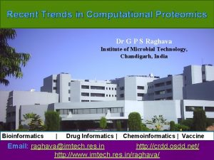 Recent Trends in Computational Proteomics Dr G P