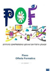 Piano Offerta Formativa A S 20192020 Il Piano