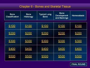 Chapter 6 Bones and Skeletal Tissue Bone Classification