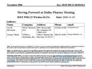 November 2006 doc IEEE 802 22 060241 r