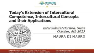 Todays Extension of Intercultural Competence Intercultural Concepts and