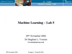 AI CS 289 Machine Learning Labs Machine Learning