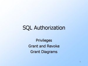 SQL Authorization Privileges Grant and Revoke Grant Diagrams