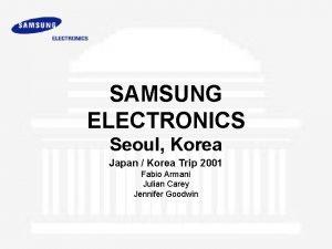 SAMSUNG ELECTRONICS Seoul Korea Japan Korea Trip 2001