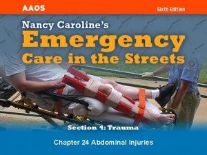 Chapter 24 Abdominal Injuries Introduction Blunt abdominal trauma