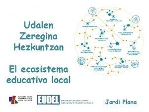 Udalen Zeregina Hezkuntzan El ecosistema educativo local Jordi
