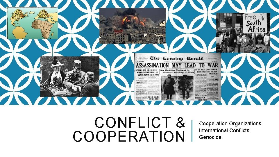 CONFLICT COOPERATION Cooperation Organizations International Conflicts Genocide COOPERATION