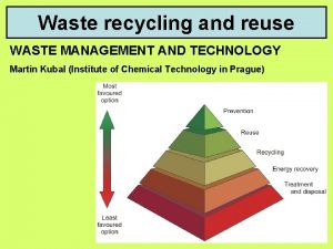 Waste recycling and reuse WASTE MANAGEMENT AND TECHNOLOGY