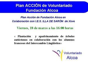 Plan ACCIN de Voluntariado Fundacin Alcoa Plan Accin