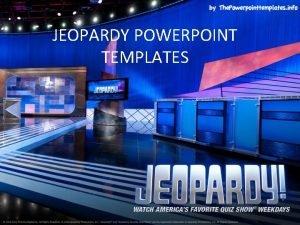 JEOPARDY POWERPOINT TEMPLATES FINAL JEOPARDY Women in the