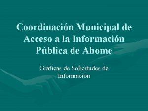 Coordinacin Municipal de Acceso a la Informacin Pblica