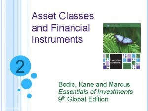 Asset Classes and Financial Instruments 2 Bodie Kane
