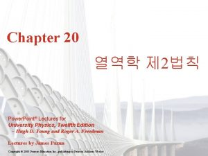 Chapter 20 2 Power Point Lectures for University