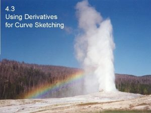 4 3 Using Derivatives for Curve Sketching Absolute