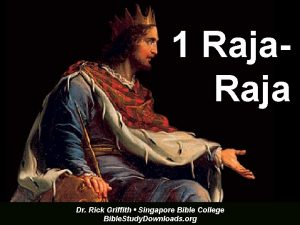 1 Raja Dr Rick Griffith Singapore Bible College