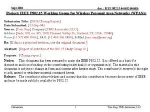 Sept 2004 doc IEEE 802 15 04 0552