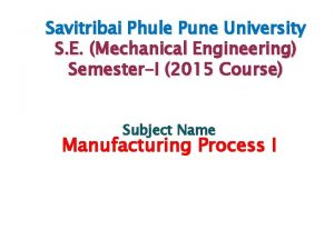 Savitribai Phule Pune University S E Mechanical Engineering