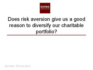 Does risk aversion give us a good reason