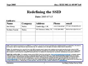 Sept 2005 doc IEEE 802 11 050971 r